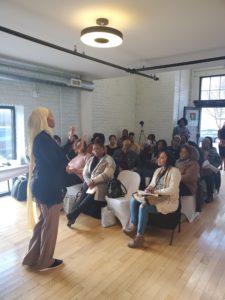 Malikah Karim presenting Mastering Mindful Self-Love